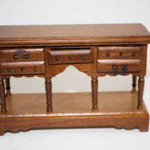 Walnut 5 drawer hall table