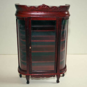 Mahogany curved glass type  cabinet