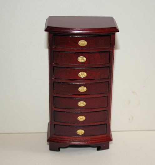 Mahogany 7 drawer tall boy