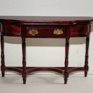 Mahogany curved front hall table