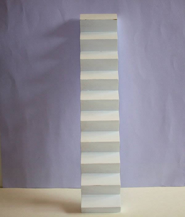 White timber sStairs