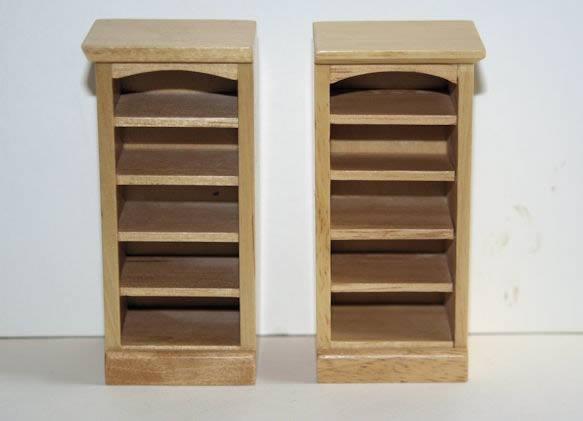 Oak sml book shelf-set 2