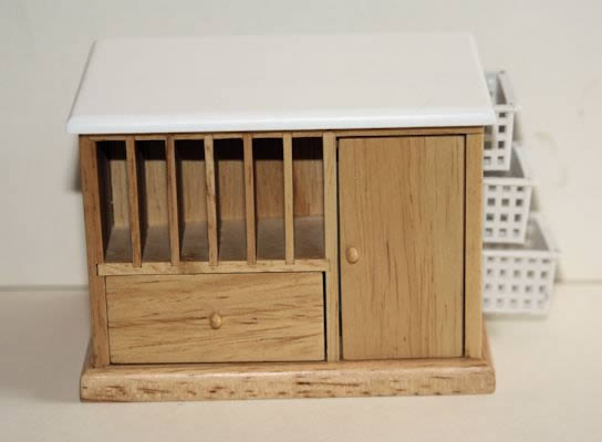 Oak timber island bench