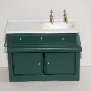 Green kitchen sink