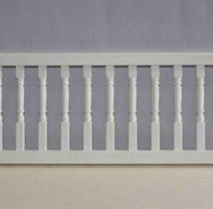 White plastic railing