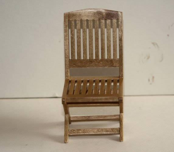 Oak coloured outdoor chair