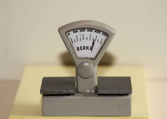 Silver counter scales