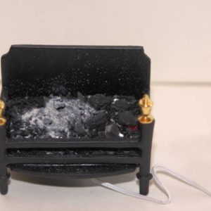 Electric 12 volt glowing fireplace