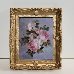 Picture of 3 roses in gold ornate frame