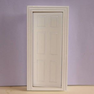 White timber 6 panel door