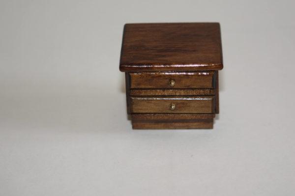 Walnut 2 drawer bedside unit