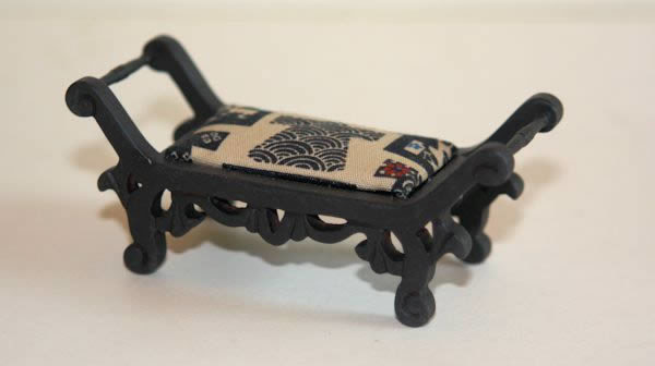 Black timber japanese stool