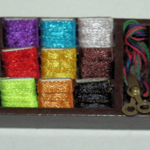 Coloured sewing cottons