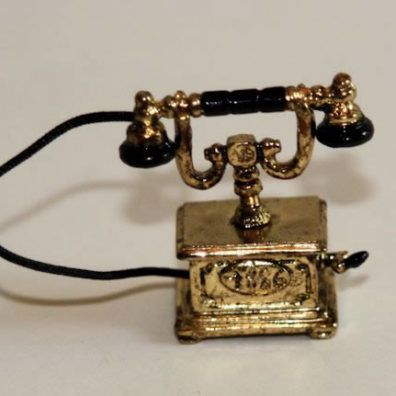 Gold Metal Old Fashion Telephone
