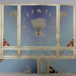 Pale blue  cherub wall panels