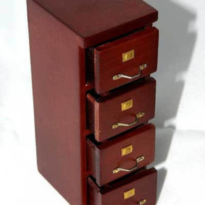 Four drawer filing cabinet walnut
