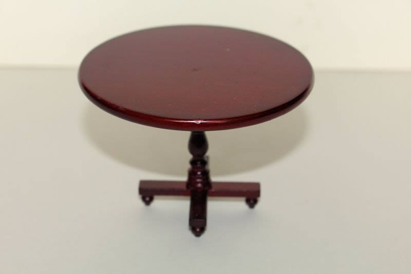 Mahogany round pedestal dining table