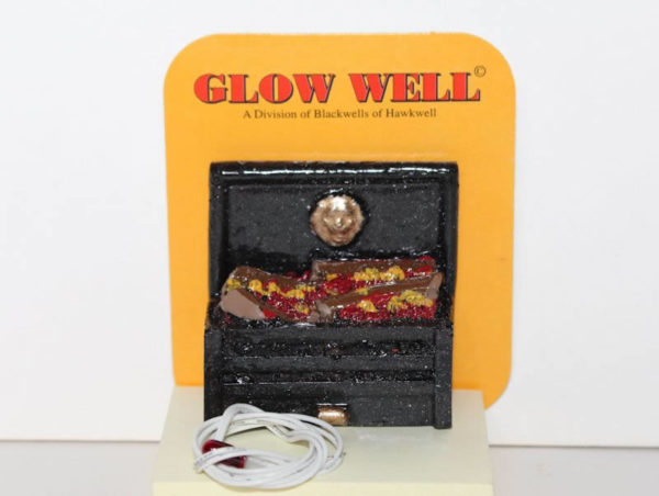 Glowing coal wired firegrate