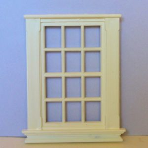 White plastic georgian 12 pane window  1/24