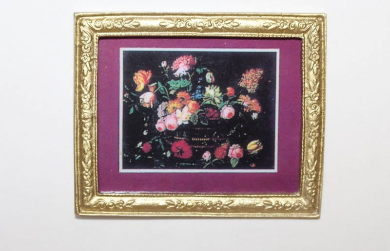 Gold frame flower picture