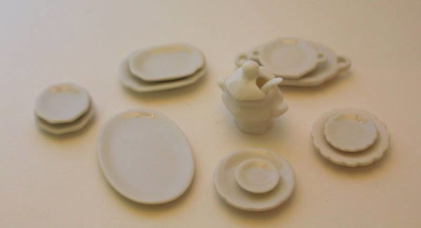 White serving set  13 pce