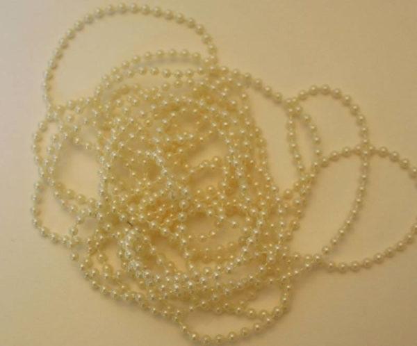White pearl fairy beads