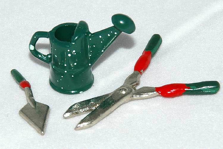 Small garden tools, green, set of three