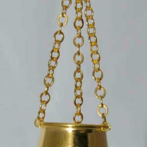 Gold hanging plant holder