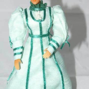 Woman Victorian pale green, resin bendable