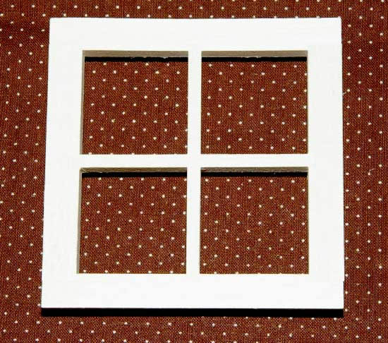 Wooden four pane window
