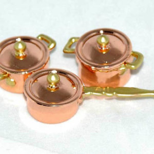 3 piece copper pot set