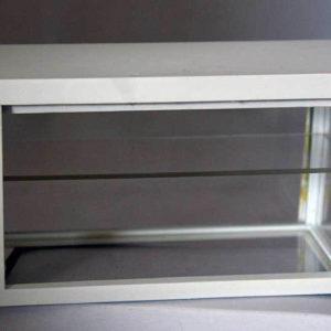White display cabinet  / counter   ( no shelf )