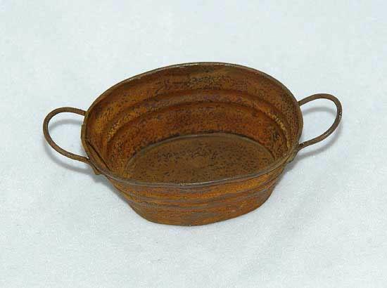 Oval shaped rusty tub