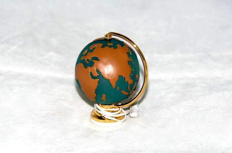 World globe on stand