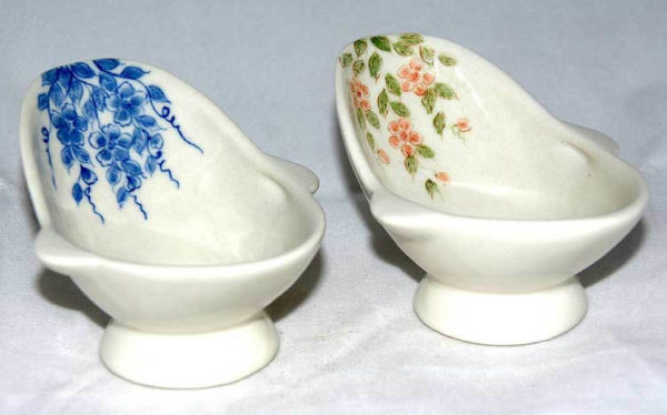 Hand painted porcelain hip bath  pink only