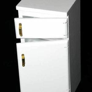 Kitchen fridge, white