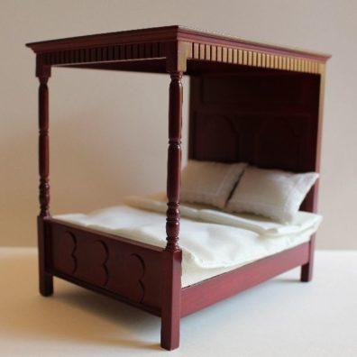 Mahogany 4 poster bed
