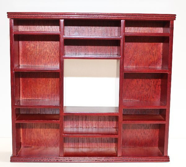 Mahogany entertainment unit