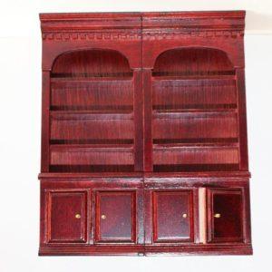 Mahogany double book case