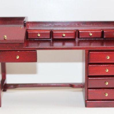 Mahogany mult drawer desk
