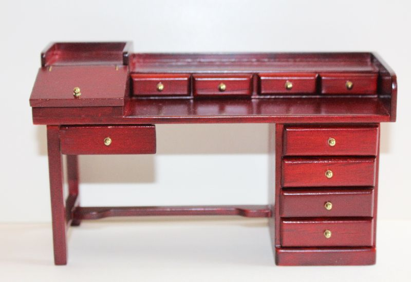Mahogany mult drawer desk