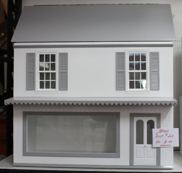 White 2 storey shop and dwelling