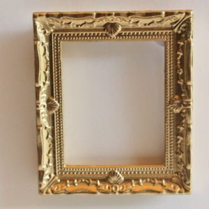 Decorated Gold Timber Frame