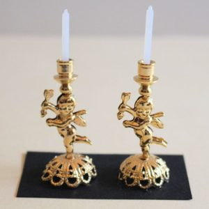 Pr. Gold Cupid Candlesticks
