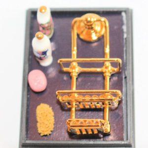 Ruetter brass shower rack