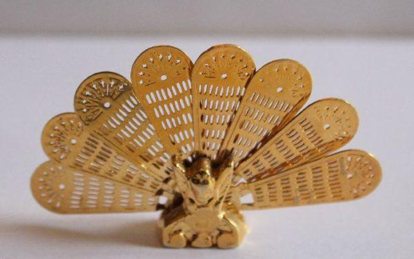 Fire Screen fan  peacock design