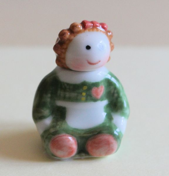 Green Dolly Cookie Jar