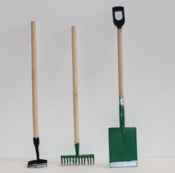 Green Metal Garden Tools 3pce