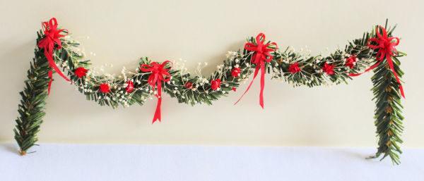 Christmas  bow garland