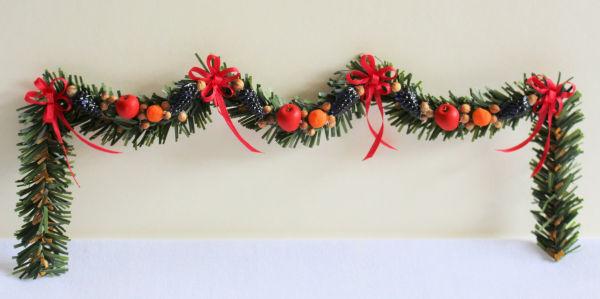 Christmas fruit garland